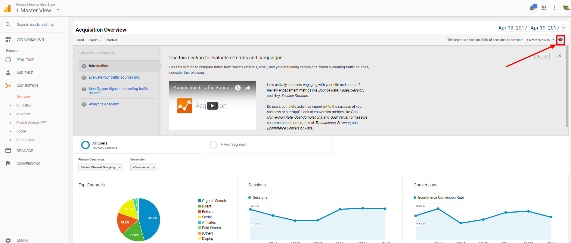 analytics university screenshot