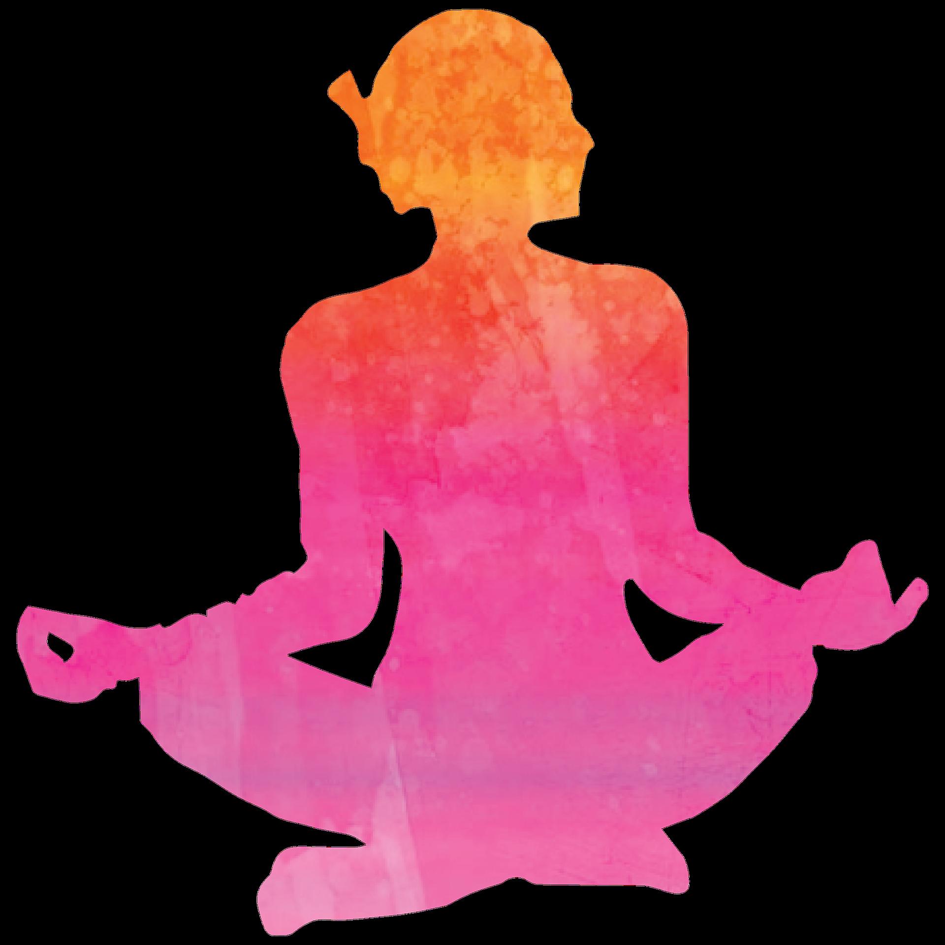 рисунок йога на белом фоне они